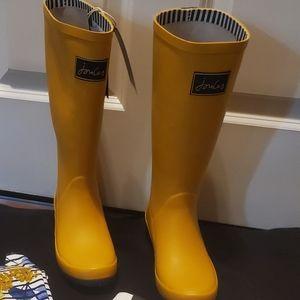 Joules yellow rain boots